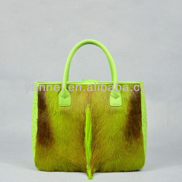 genuine fur handbags antelope fur lady tote bags exotic skin collection bags manufacturer