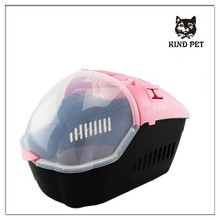 different color high quality travel transportation box plastic pet carrier
