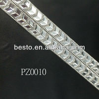 PZ0010 2013 sexcy bling bling wholesale trimming crystal rhinestone mesh for belts