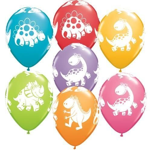 2018 Hot sell 12inch Cute Dinasour Print Latex Balloon Mixed designs