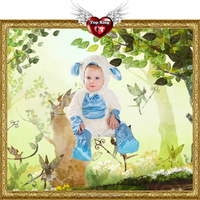 Toddler Animal Baby Cosplay Dress Toddler Blue Lamb Costumes for Baby