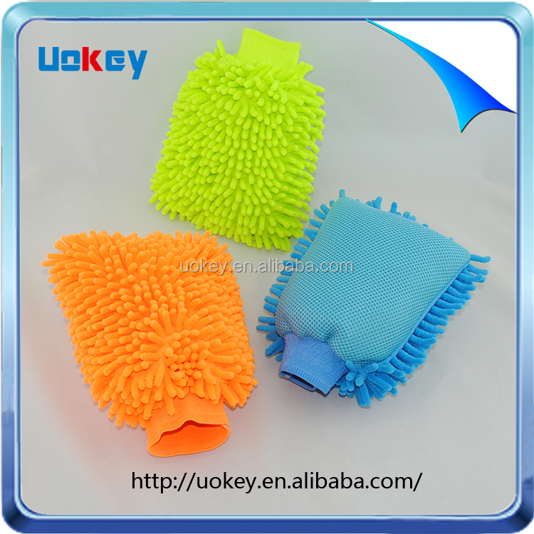 Kitchen households cleaning green feather duster