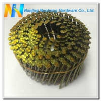 "15 Degree Smooth Shank Bright Wire Coil Nail 2.3*50/0.092""*2"""