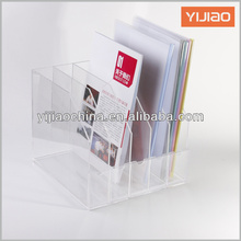 office transparent/clear plastic magazine storage holder/rack