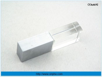 Hot selling rhombus perfum box crystal usb flash drive