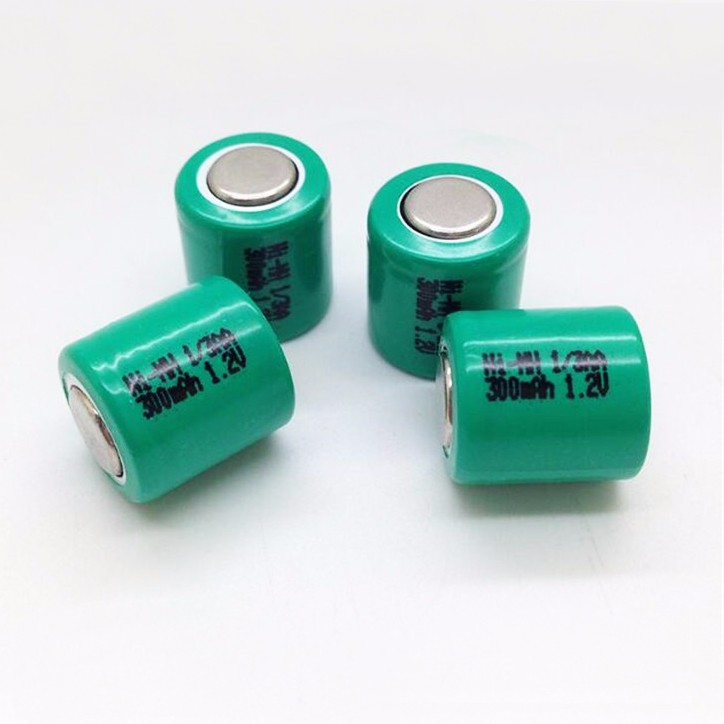 flat top OEM customize logo 1/3AA 300MAH 1.2V nimh rechargeable Battery for Remote Control toys / LED / mine / solar light