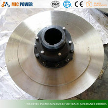 WGP type drum gear coupling with brake disc,Non-standard custom Quality Steel gear coupling shaft