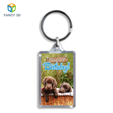 Zebulun China Goods Wholesale Womens Dog 3D Lenticular Printing Keyring Keychains