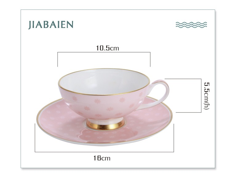 Elegent bone china custom printed coffee tea espresso cups with european style
