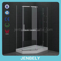 Diamond With Shelves Hinge Shower Enclosure BL-1022