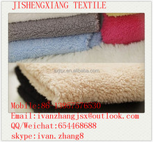 Jishengxiang textile 100% Polyester sherpa fleece fabric, faux shearling fabric