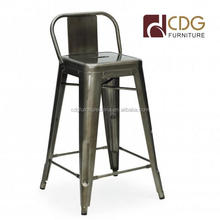 Foreign trade industrial style iron furniture european fashion creative high backrest iron sheet vintage bar stool high chair
