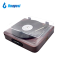 3 speed usb fm radio bluetooth retro vinyl record player lp turntable with stereo speakers