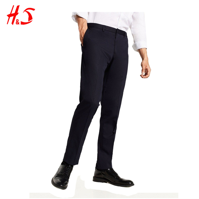 2018 New Slim Fit Men Pants Black Trouser