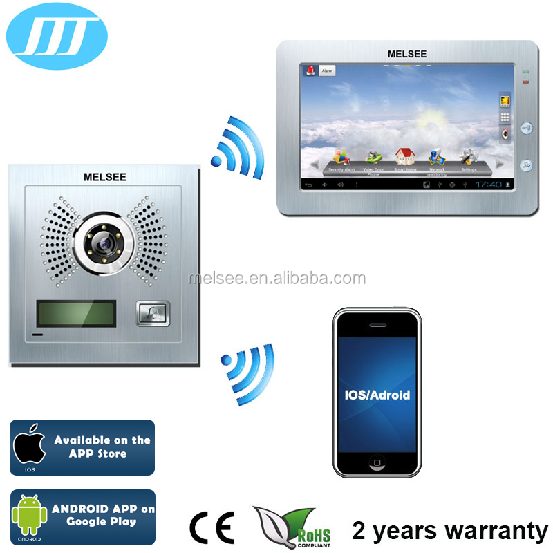 Wireless video door phone with free Android/iOS APP