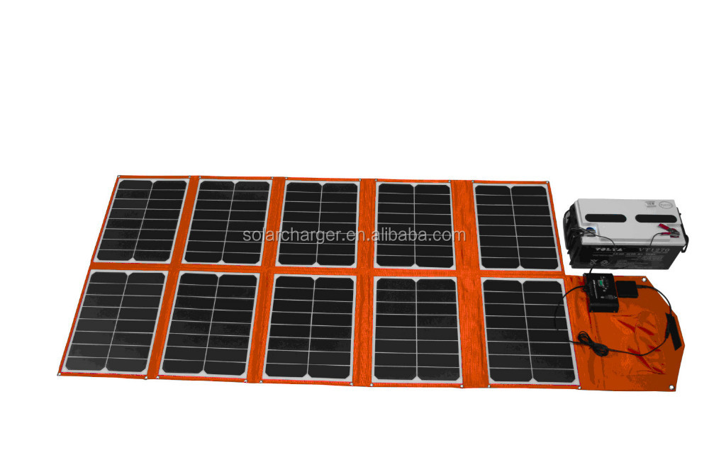 150w outdoor folding solar panel charger car battery