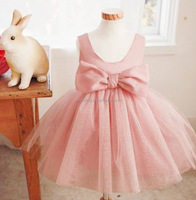 New Fashion baby Girl Dress Pink Party Children Dress For Summer