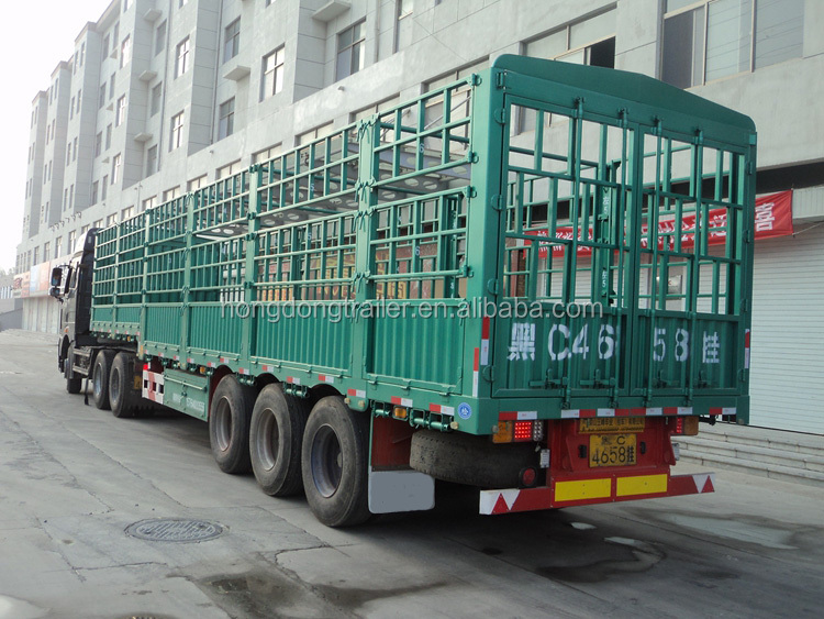 light tare weight Food Truck Trailer Bulk Cargo Transport Fence Semi Trailer