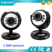 CMOS 1.3MP USB2.0 PC wired web camera driver with mic