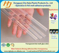 Anti-yellowing transparent EVA glue stick for plastic