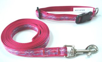 Pet products dog collar & leashes led adjustable webbing