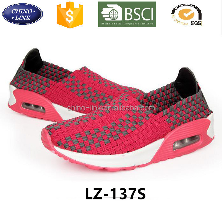2016 summer brand women mujer zapatillas deportivas female platform couple Woven shoes men comfortable hot sell casual shoe
