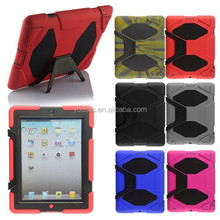 Military Builder Workman Heavy Duty Case, Shock Proof Touch Screen Case Cover For Ipad 2 3 4