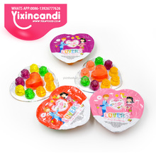 Colorful halal mini fruit rose jelly candy manufactory