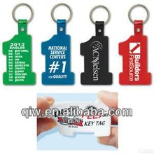 Fty wholesale Supply Top Popular Pastic Soft PVC Keyring