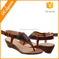 Chic Woven Style Low wedge flip flop arabic shoe reef sandals
