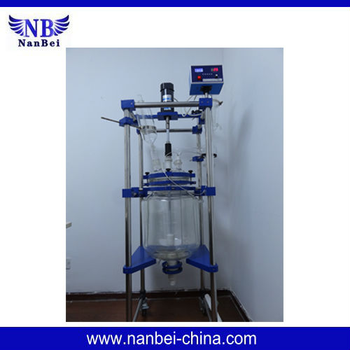 10-100L Jacket photochemical glass reactor