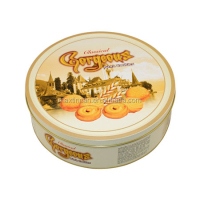 cylinder tin box round cookies can cookies tin can packaging