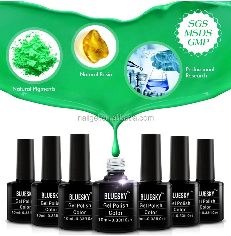 bluesky professional factory price gel polish ,2016 newest color uv gel ,nail arts design