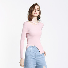 ZH01984B Ladies Elegant Sweaters Tight Woman Casual Lady Cable Pattern Knitwear