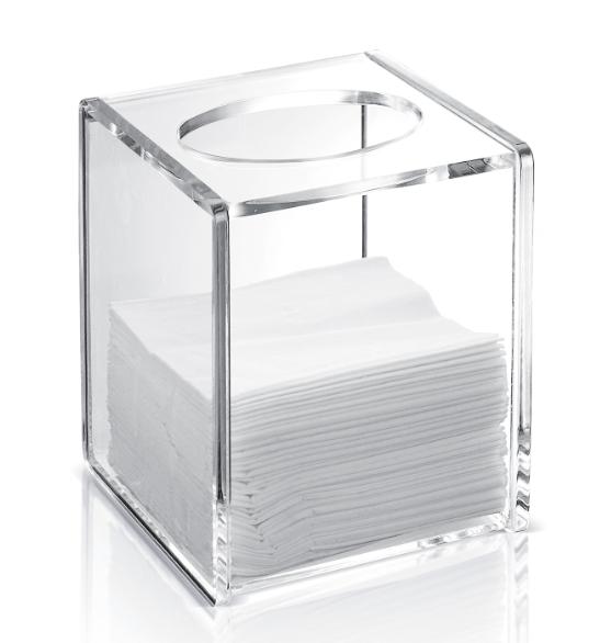 Transparent Fashion Modern Acrylic Tissue Box For Home Bathroom