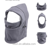 6 in 1 Thermal Fleece Balaclava Hood Police Swat Ski Bike Wind Stopper Mask