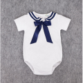 New summer cotton navy style baby suit wear