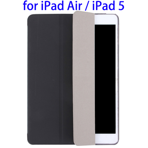 Hot Sales Plain Weave Texture PU Leather Combo Case for iPad Air / iPad 5 with 3-folding Holder