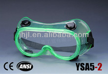 Ventilate Safety Goggles Green Frame, Black Valve