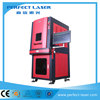 CE full enclosed cabinet animal ear tag laser marking machine PEDB-500