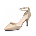 Luxurious design new elegant leather upper pointed toe high heel shoes for women shoes