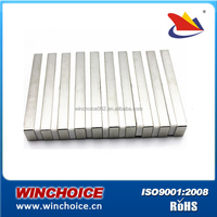 High Grade Sintered Neodymium Permanent Rare Earth Magnet Bars with diametrically magnetized