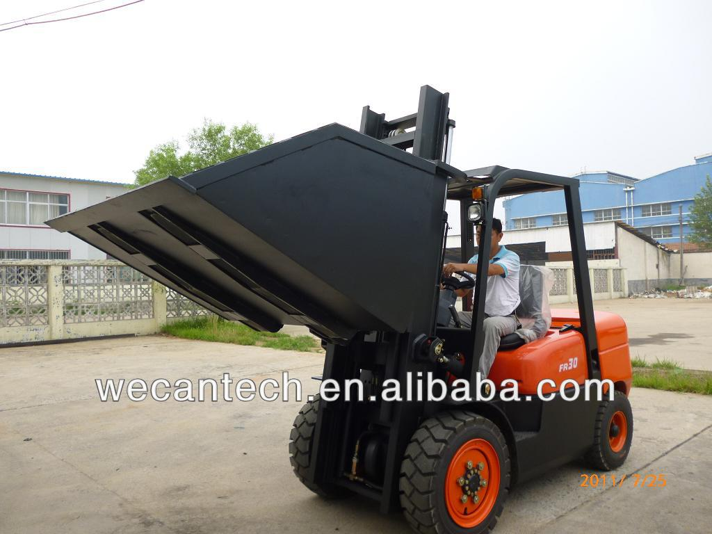 Forklift bucket hinged fork and bucket
