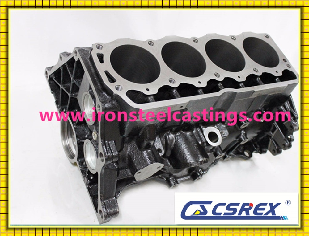 GG25 cast iron machined Truck Diesel engine cylinder block