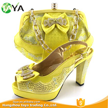 Latest Design Superior Quality Luxury Factory Sale Various Luxury African Print Shoes And Bags