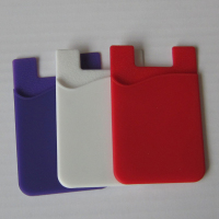 China manufacturer Top wholesale silicone cell phone back pouch credit card holder