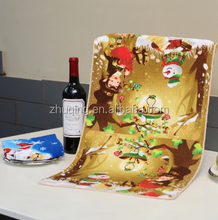 Wholesale Custom Printed Christmas Microfiber Kitchen Tea Towels