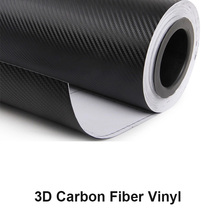 the newest gas guide groove free bubble channel film 3D carbon fiber vinyl with low price for car body sticker