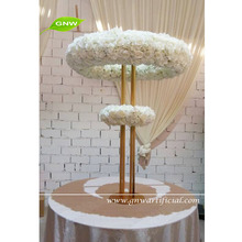 GNW 5ft high white wedding decoration centerpieces table tree with double circular rings for weddings