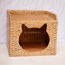 Guangzhou Manufacturer Foldable Weaving Cozy Cat Cave Wholesale Cat Beds